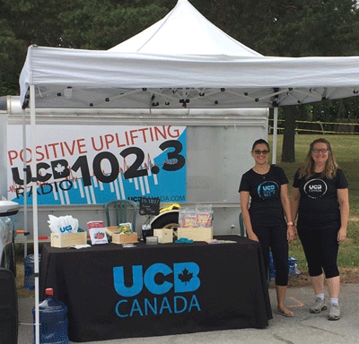 Volunteering at the UCB Booth